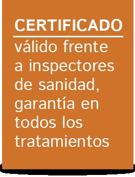 certificado control de plagas